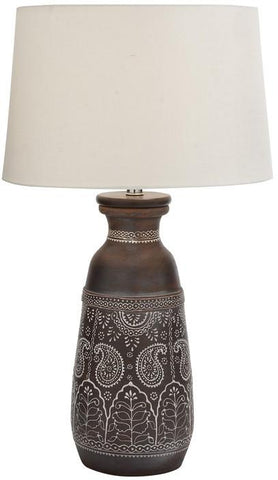 "Bayden Hill +Terracotta Table Lamp 28""H (A+B) - Peazz.com"