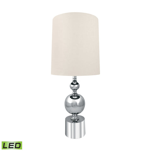 Lamp Works LAM-952-LED Metal Collection Silver Finish Table Lamp