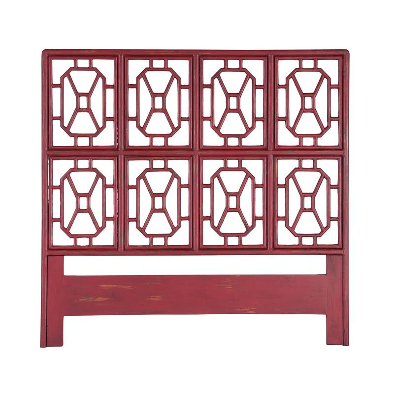Guildmaster GUI-954005 Fretwork Headboards Collection Red Finish Headboard