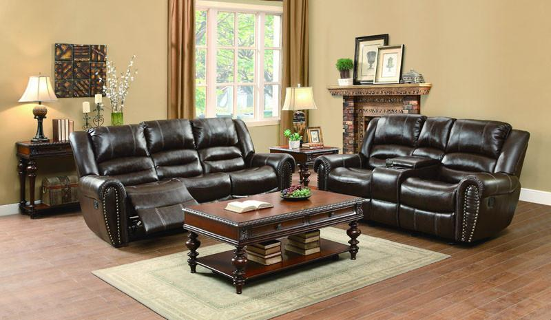 Hill Collection Color Dark Brown Bonded Leather Match 18353 Product Photo