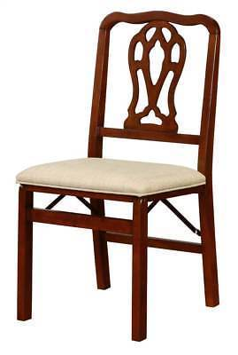 Bayden Hill 980180LIN02AS Chippendale Folding Chairs - Set Of Two