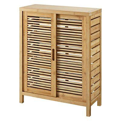 Linon 980209NAT01U Bracken Two Door Floor Cabinet