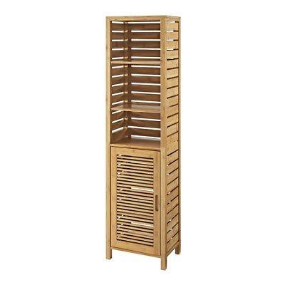 Linon 980210NAT01U Bracken Tall Cabinet