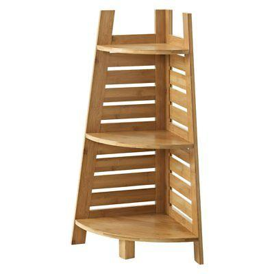 Linon 980213NAT01U Bracken Bamboo Corner Shelf
