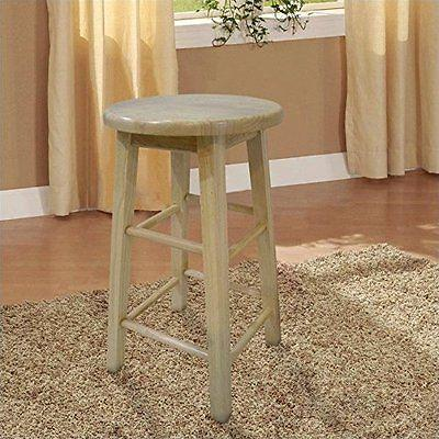 "Bayden Hill 98100NAT-01-KD 24"" Counter Stool With Round Seat"