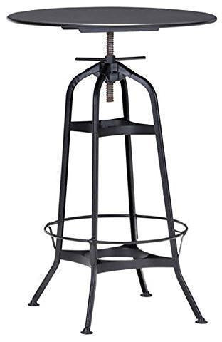 Zuo Modern 98125 Spartan Bar Table Color Antique Black Steel Finish - BarstoolDirect.com