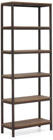 Zuo Modern 98143 Mission Bay Tall 6 Level Shelf Color Distressed Natural Metal Finish - Peazz.com - 1