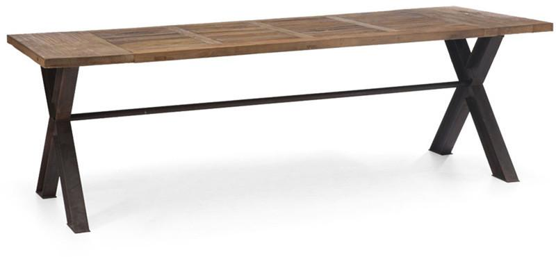 Ashbury Dining Table Distressed Natural Metal Haight
