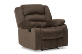 Baxton Studio 98240-Brown Hollace Modern and Contemporary Taupe Microsuede 1-Seater Recliner