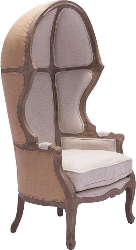 Chair Beige Fir Wood Ellis