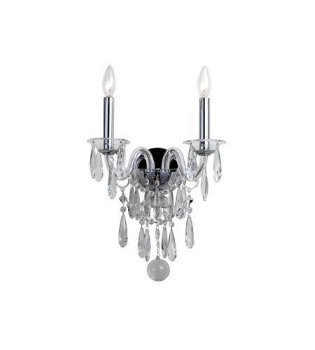 Crystorama 9912-CH-CL-MWP Barrymore 2 Light Chrome Sconce