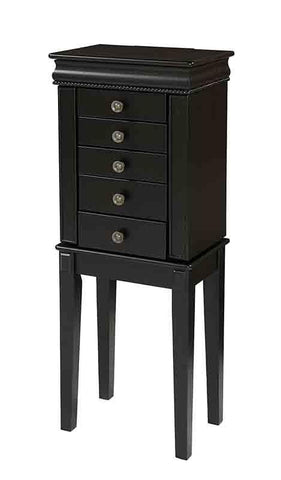 Linon 995214BLK Hailey Jewelry Armoire
