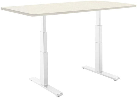 "Vifah A1-A11 SmartDesk Standing Desk with Electric Adjustble Height 24 - 50 inches, White Dual-motor Frame - Oak Classic Table Top size 53"" x 30"""