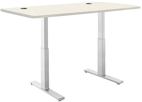 "Vifah A56-A11 SmartDesk Standing Desk with Electric Adjustble Height 28 - 46 inches, Grey Single Motor Frame - Oak Classic Table Top size 53"" x 30"""