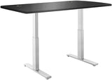 "Vifah A56-A13 SmartDesk Standing Desk with Electric Adjustble Height 28 - 46 inches, Grey Single Motor Frame - Black Classic Table Top size 53"" x 30"""