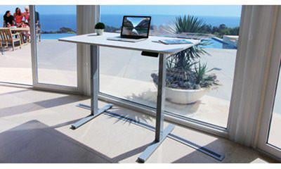 "Vifah A56 Smartdesk Standing Desk Single-motor Frame with Electric Adjustable Height from 28"" to 46"", Grey"