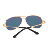 SolarUV Military Style Classic Aviator Sunglasses, Polarized, 100% UV Protection