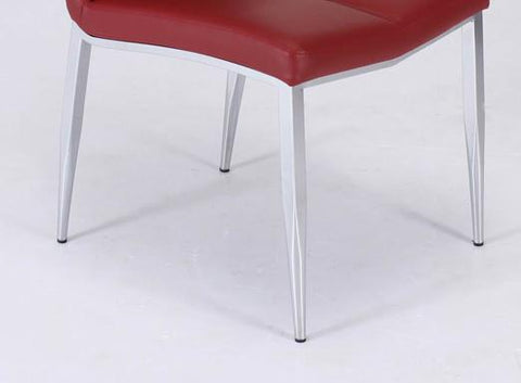 Chintaly ABIGAIL-SC-RED Side chair w/ chrome legs ( Set of 4 )