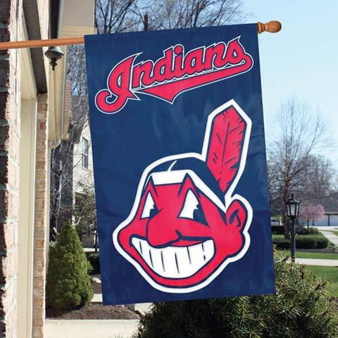 The Party Animal, Inc. AFCLE Cleveland Indians Appliqué Banner Flag - Peazz.com