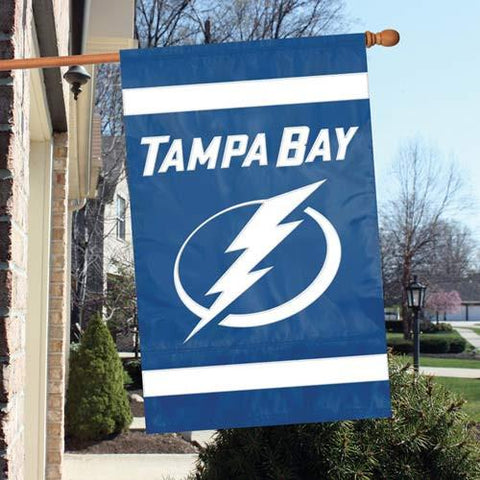 The Party Animal, Inc. AFLIG Tampa Bay Lightning Appliqué Banner Flag - Peazz.com