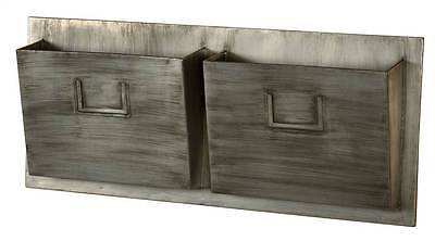 Linon AHW-M2SLOTH-1 Industrial Metal Two Slot Mailbox - Horizontal