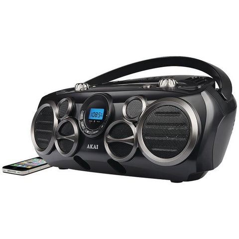 Akai CE2300-BT Bluetooth CD Boom Box with AM/FM Digital Readout & 6 Speakers - Peazz.com