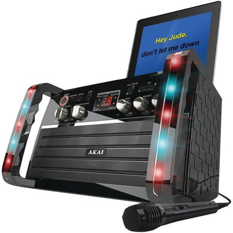 Akai KS-213 CD+G Karaoke Player with iPad/iPod Cradle & Light Effect - Peazz.com