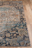 "Momeni AMELIAM-01NVY5376 Turkish Machine Made Collection Navy Finish Rugs 5'3""X7'6"""
