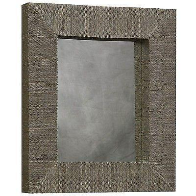 Bayden Hill AMIT-MIR026RECT-1 Mendong With Black Thread Rectangle Mirror