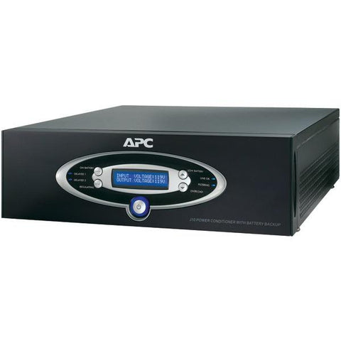 APC J15BLK 12-Outlet J-Type Power Conditioner with Battery Backup (Black; 4,500 Joules; 1,500VA; 865 Watts) - Peazz.com