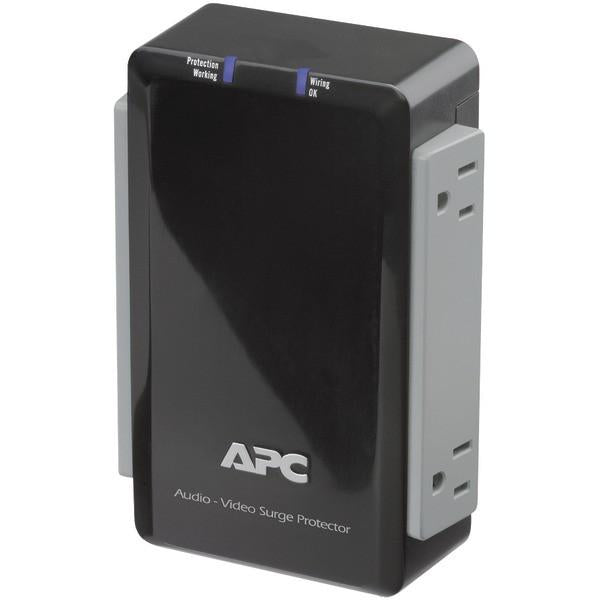 APC P4V 4-Outlet Wall-Mount Surge Protector with Coaxial Protection