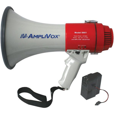 Amplivox SB601R Mity-Meg 15-Watt Megaphone (Bundled with rechargeable battery) - Peazz.com