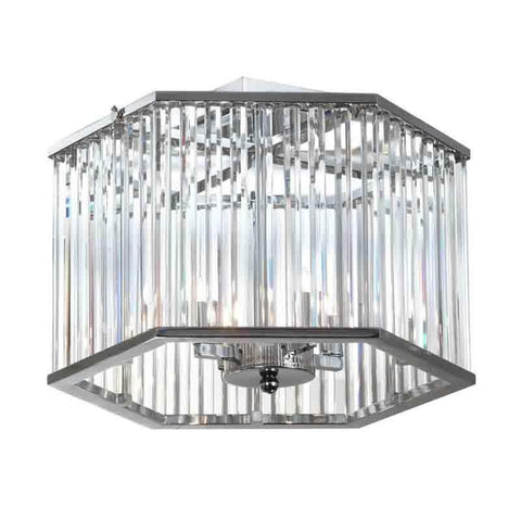 Dainolite ARU-154SF-PC 4LT Crystal Semi Flush