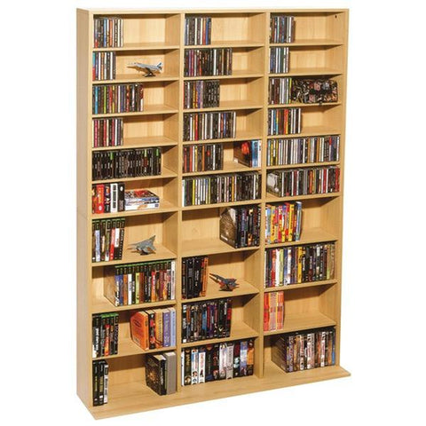 Atlantic 38435715 Oskar 1,080-CD Multimedia Storage Cabinet - Peazz.com
