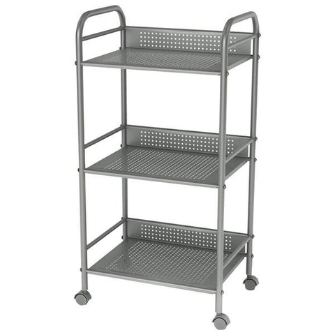 Atlantic 38436005 3-Tier Cart on Casters (Moon Mist) - Peazz.com