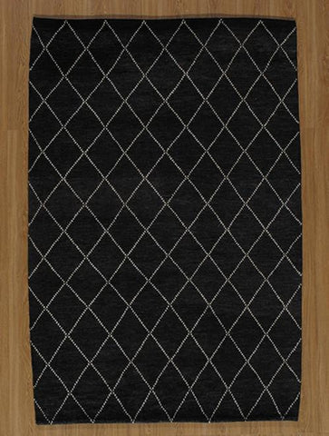 Momeni ATLASATL-5CHR2380 Indian Hand Knotted Atlas Collection Charcoal Finish Runner