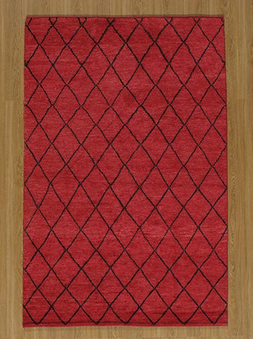 Momeni ATLASATL-5RED2030 Indian Hand Knotted Atlas Collection Red Finish Rugs