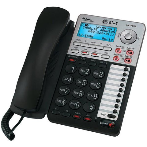 AT&T 17939 2-Line Corded Speakerphone with Caller ID & Digital Answering System - Peazz.com