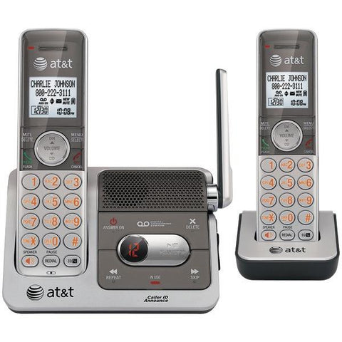 AT&T ATTCL82201 DECT 6.0 Cordless Phone System with 2 Handsets, Talking Caller ID & Digital Answering System (2-Handset System) - Peazz.com