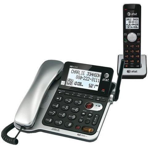 AT&T CL84102 Corded/Cordless Phone System with Answer, Caller ID/Call Waiting - Peazz.com