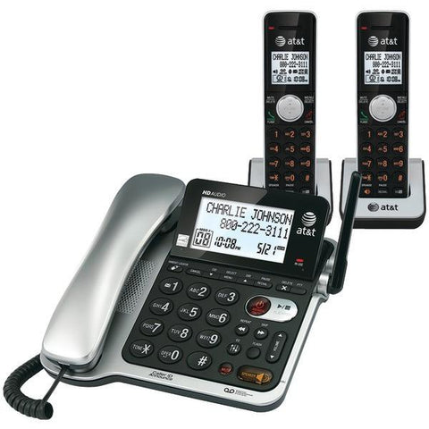 AT&T ATCL84202 DECT 6.0 Corded/Cordless Phone with Call Waiting/Caller ID, 2-Handset - Peazz.com