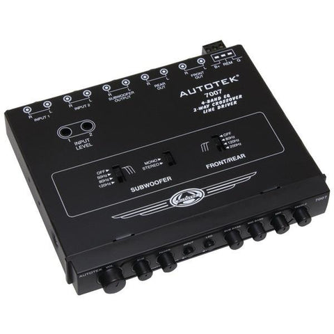 Autotek 7007 Half-DIN 4-Band 2-Way Equalizer/Crossover - Peazz.com