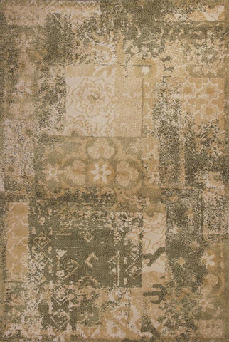 "KAS Rugs Allure 4054 Sage/Gold Vintage Hand-Tufted 100% Polyester 2'3"" x 7'6"" Runner"