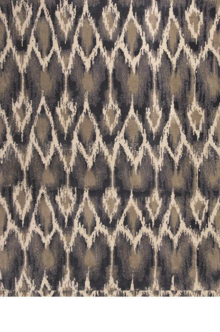 "KAS Rugs Allure 4057 Ivory/Grey Horizon Hand-Tufted 100% Polyester 30"" x 50"""
