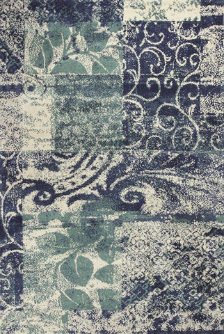 KAS Rugs Allure 4062 Blue/Green Artisan Hand-Tufted 100% Polyester 5' x 7'