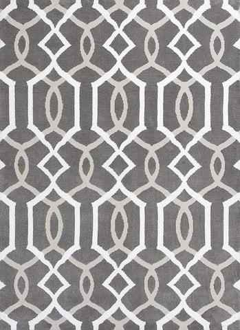 "KAS Rugs Allure 4081 Taupe Gramercy Hand-Tufted 100% Polyester 7'7"" x 10'10"""