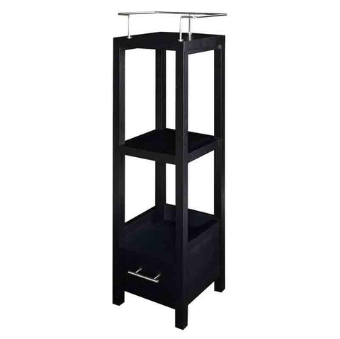 Linon BA008BLK01 Hoover Black Tall Storage Cabinet