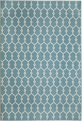 Momeni BAJA0BAJ-2BLU2346 EGYPTIAN MACHINE MADE Baja Collection Blue Finish Rugs