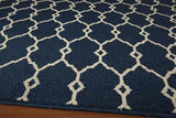 "Momeni BAJA0BAJ-2NVY860D EGYPTIAN MACHINE MADE Collection Navy Finish Rugs 8'6""X13'"