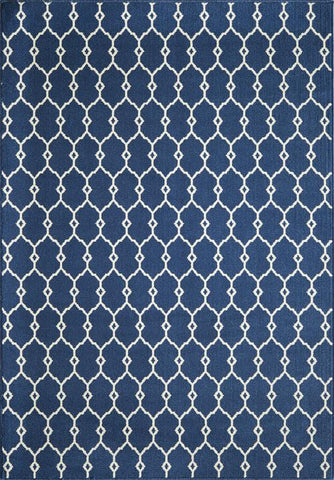 Momeni BAJA0BAJ-2NVY860D EGYPTIAN MACHINE MADE Baja Collection Navy Finish Rugs